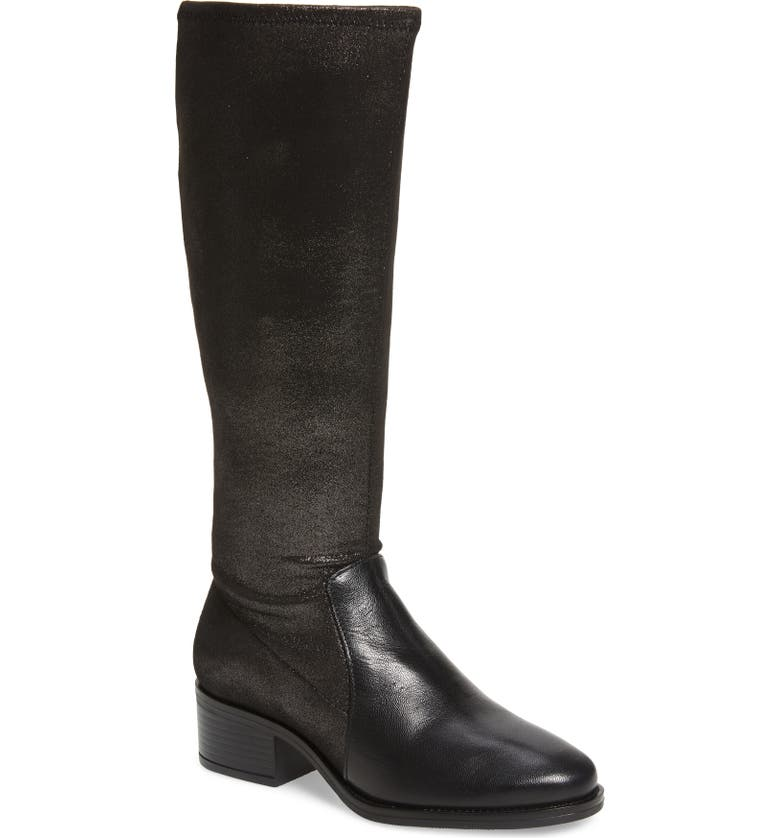BOS. & CO. Java Waterproof Tall Boot, Main, color, BLACK LEATHER