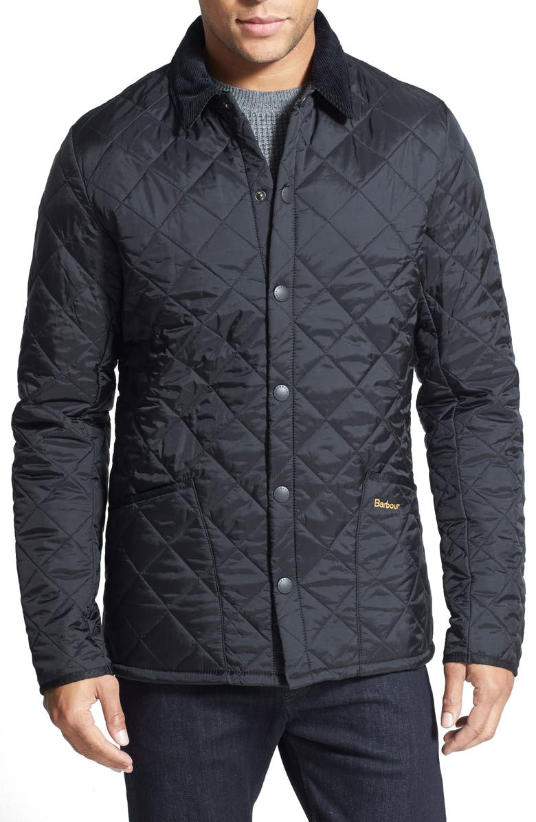 BARBOUR Liddesdale<sup>®</sup> Tailored Fit Quilted Nylon Jacket, Main, color, BLACK