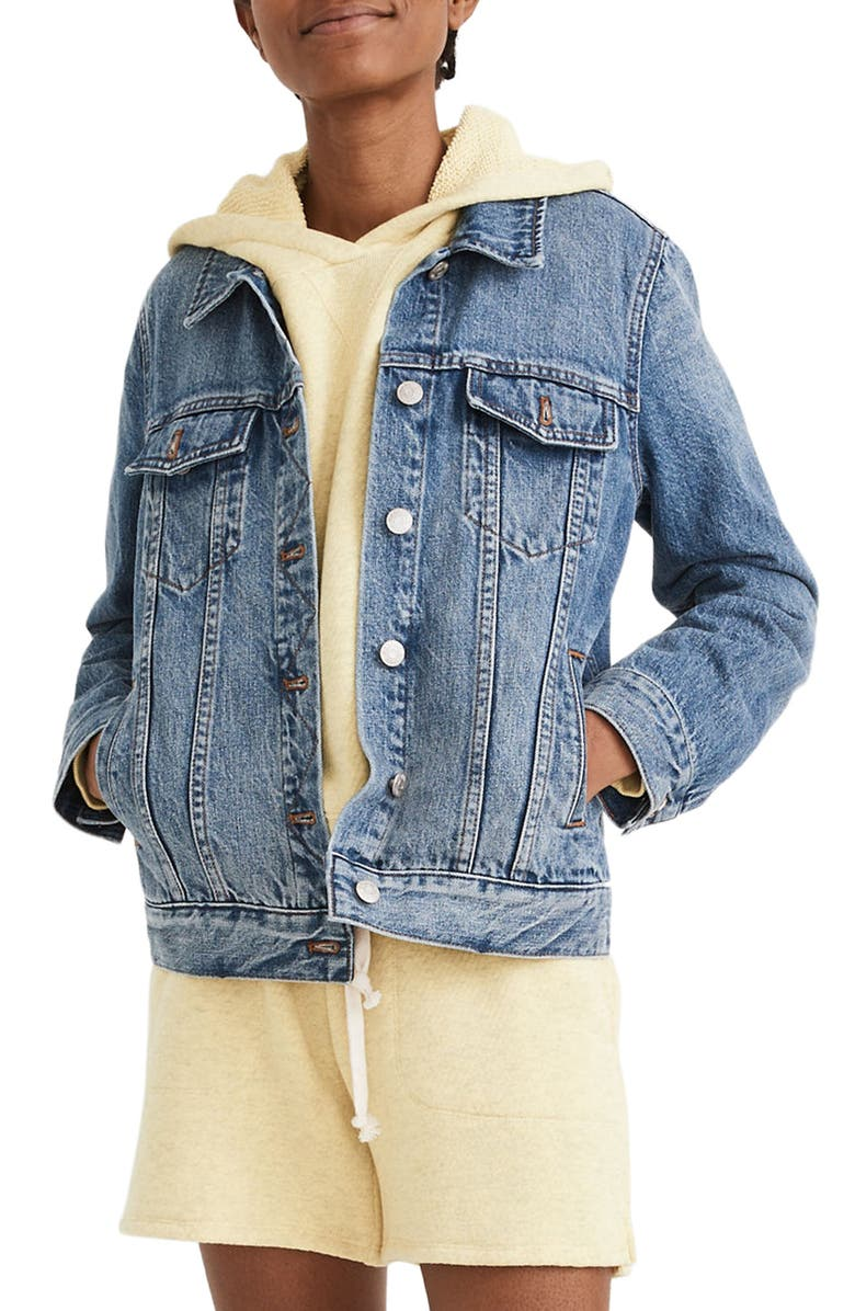 MADEWELL Classic Jean Jacket, Main, color, MEDFORD WASH