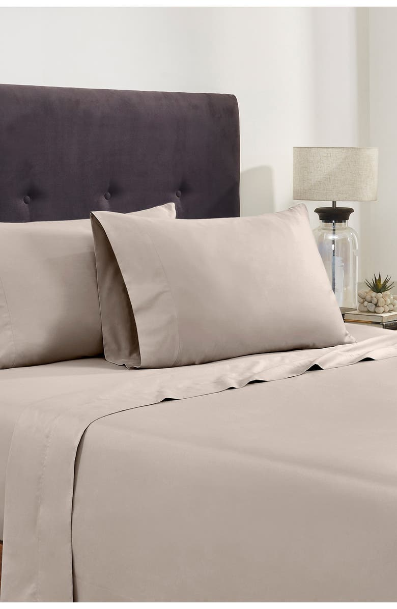 MODERN THREADS Italian Hotel Collection 400 Thread Count 100% Cotton Sheet Set - Oat - King, Main, color, OAT