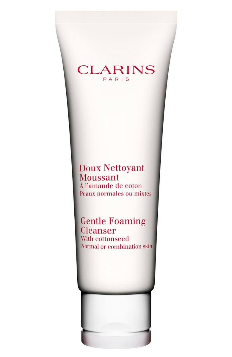 CLARINS Gentle Foaming Cleanser with Cottonseed for Normal/Combination Skin Types, Main, color, 000