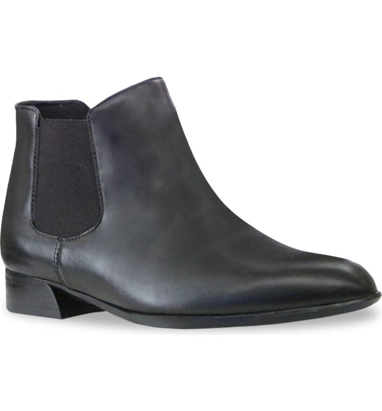MUNRO Cate Water Resistant Chelsea Boot, Main, color, BLACK LEATHER