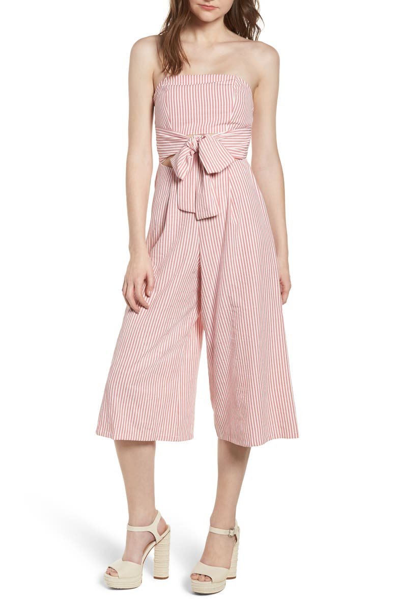 EVERLY Strapless Cutout Jumpsuit, Main, color, 650