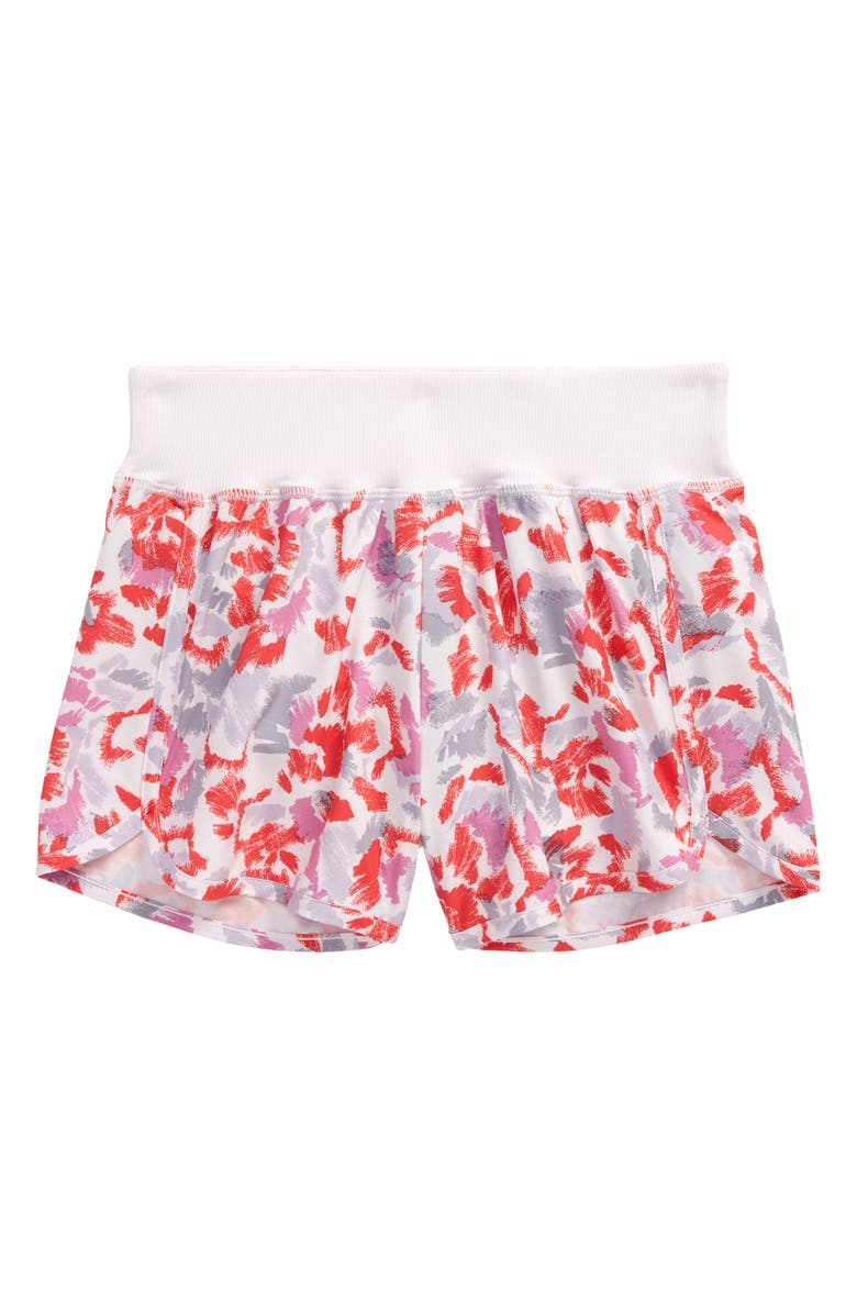 ZELLA GIRL Kids' Aero Print Shorts, Main, color, PINK ICE SKETCHY BLOOMS PRINT