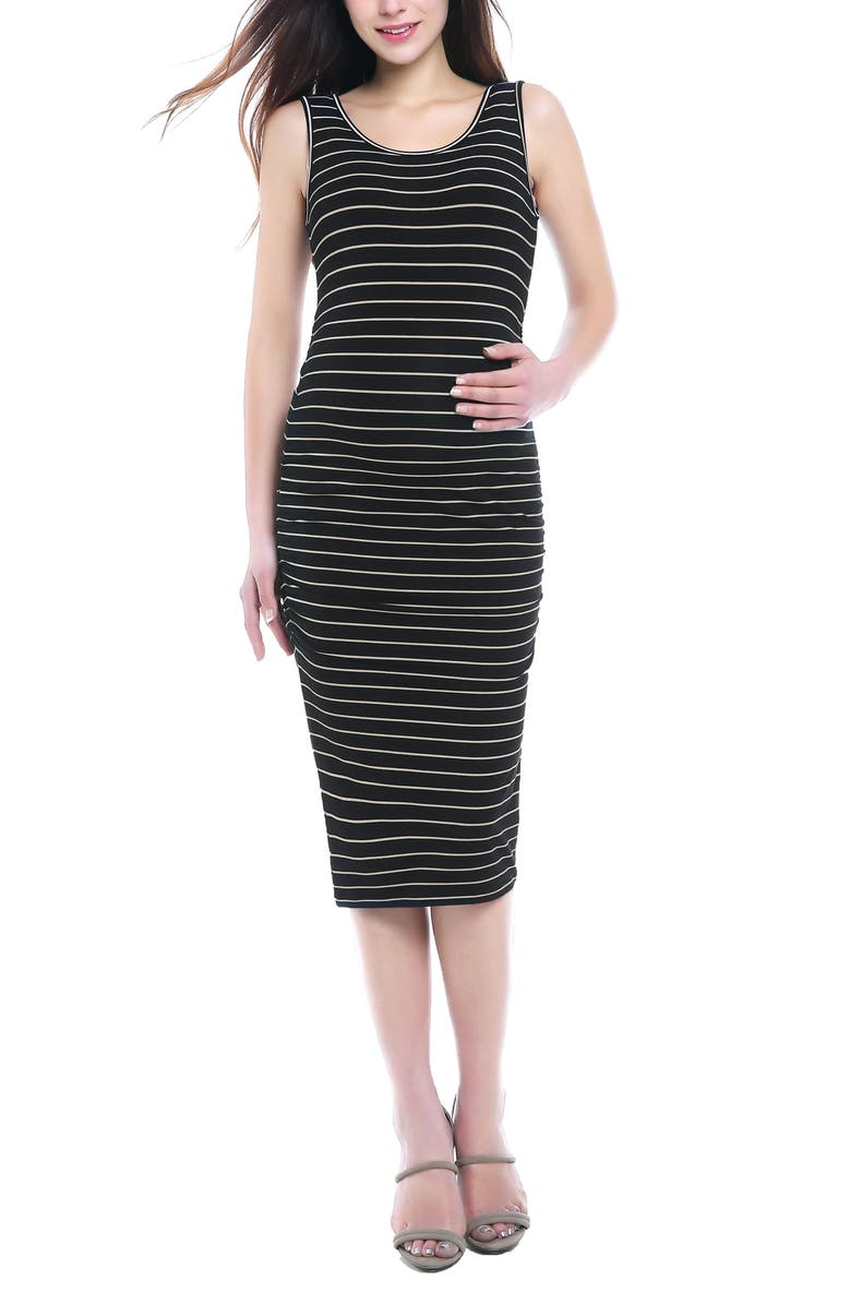 KIMI AND KAI Tobi Stripe Maternity Dress, Main, color, 001