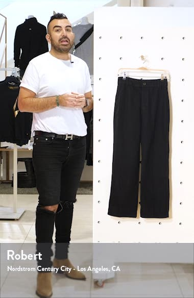 Marine High Waist Relaxed Fit Ankle Wide Leg Jeans, sales video thumbnail