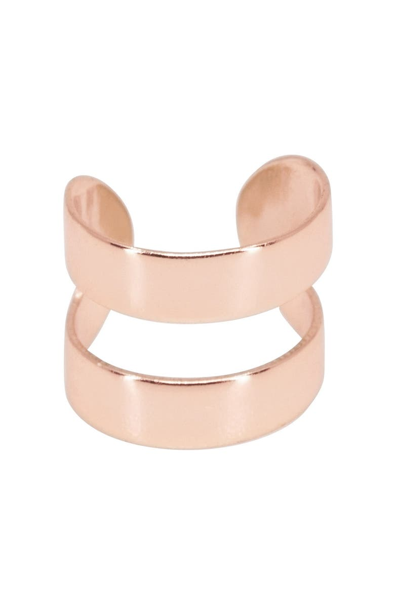 RAGEN JEWELS Double Layer Ear Cuff, Main, color, ROSE GOLD