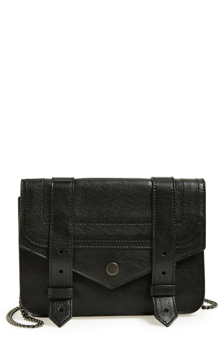 PROENZA SCHOULER 'Large PS1' Leather Crossbody Wallet, Main, color, 001
