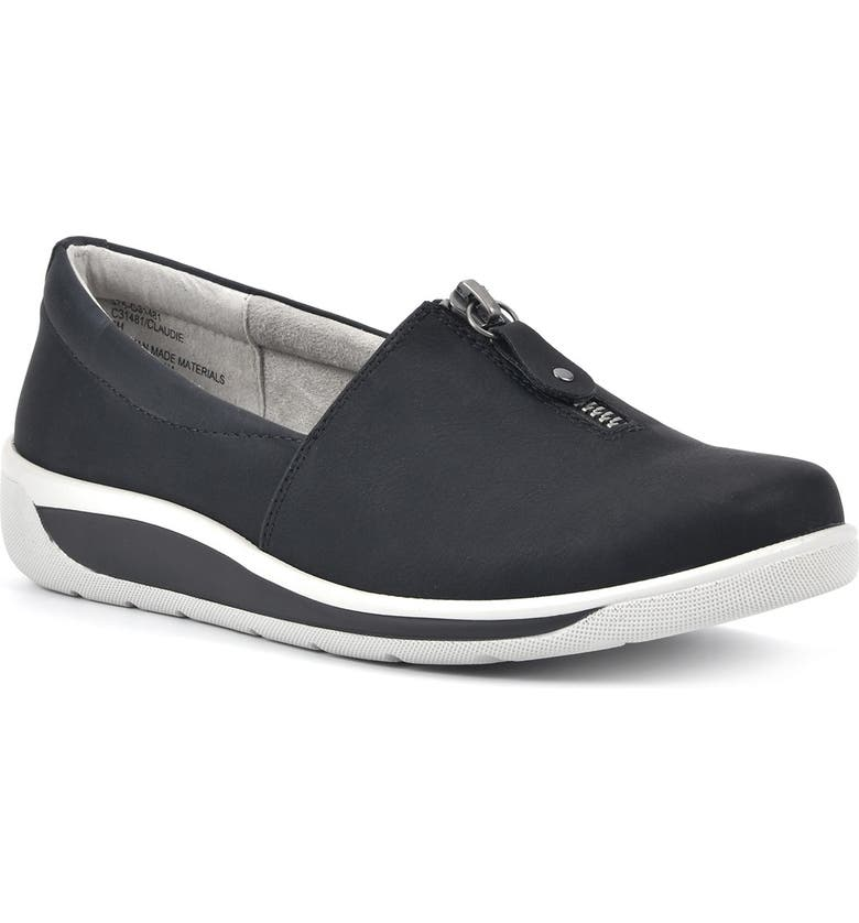 CLIFFS BY WHITE MOUNTAIN Claudie Sneaker Flat, Main, color, BLACK/NUBUCK