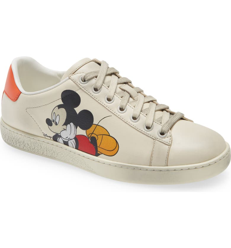 GUCCI x Disney Ace Mickey Mouse Sneaker, Main, color, IVORY/MULTI