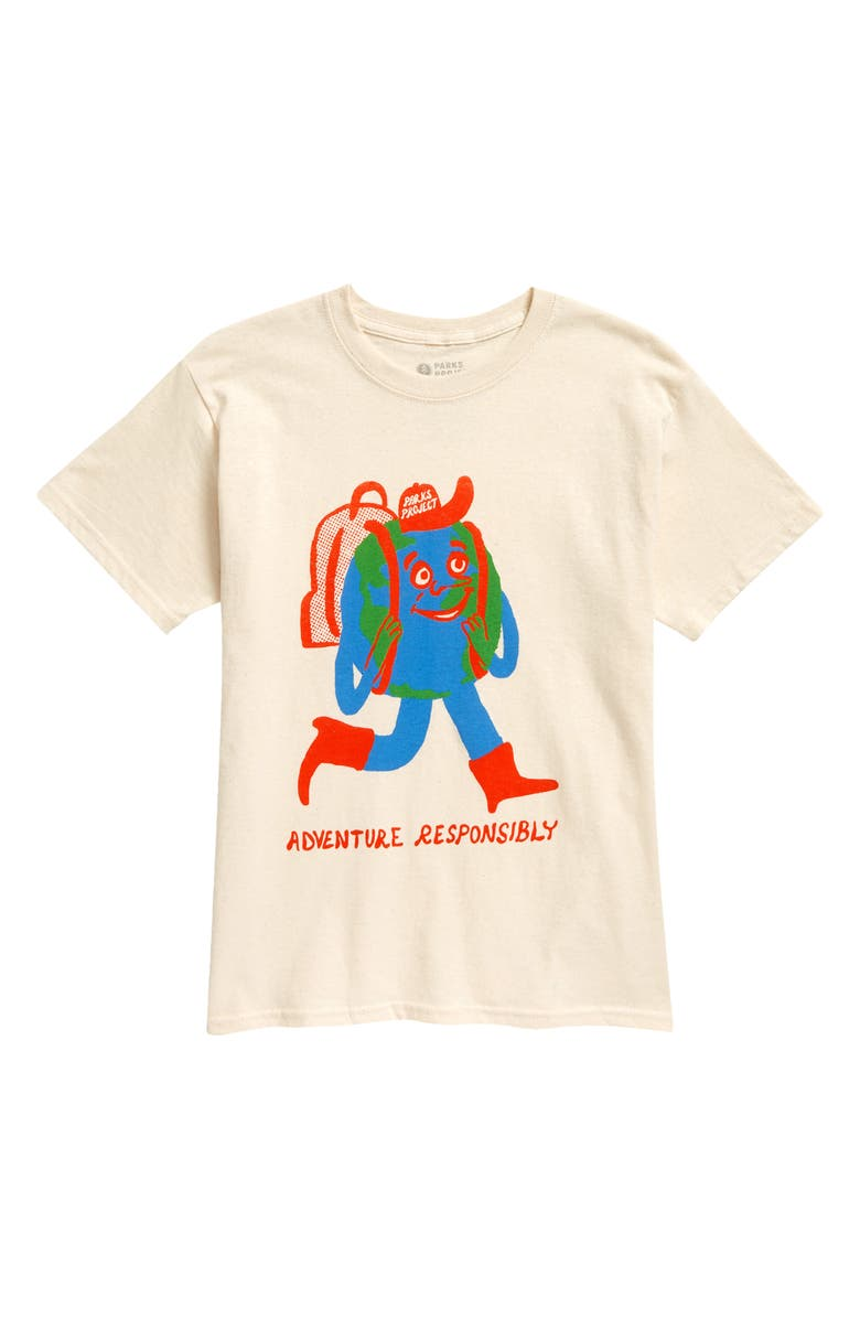 PARKS PROJECT Kids' Globetrotter Graphic Tee, Main, color, BEIGE