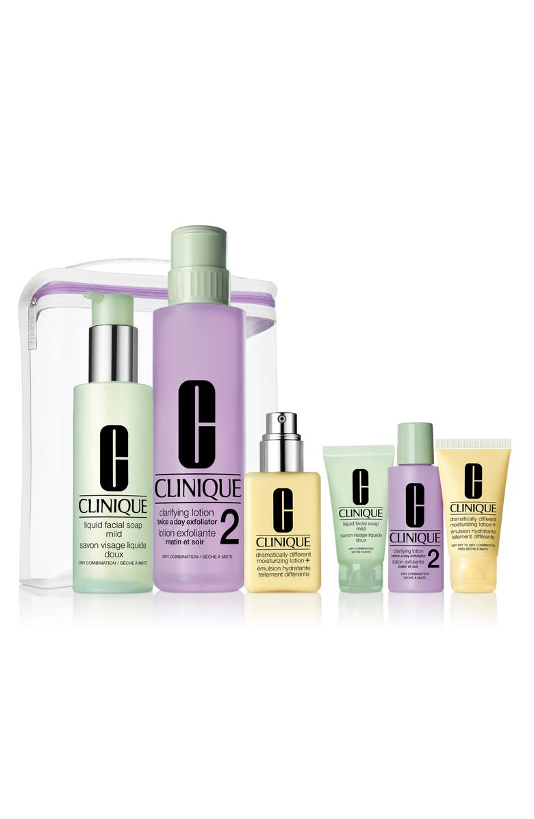 CLINIQUE Great Skin Anywhere 3-Step Skin Care Set for Dry Skin, Main, color, 000