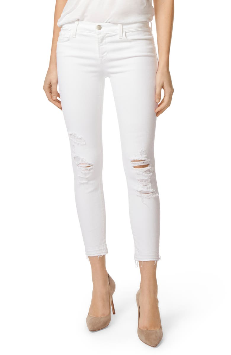 J BRAND 9326 Low Rise Crop Skinny Jeans, Main, color, 100