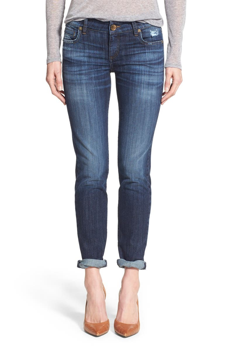 KUT FROM THE KLOTH 'Catherine' Stretch Boyfriend Jeans, Main, color, GOAL