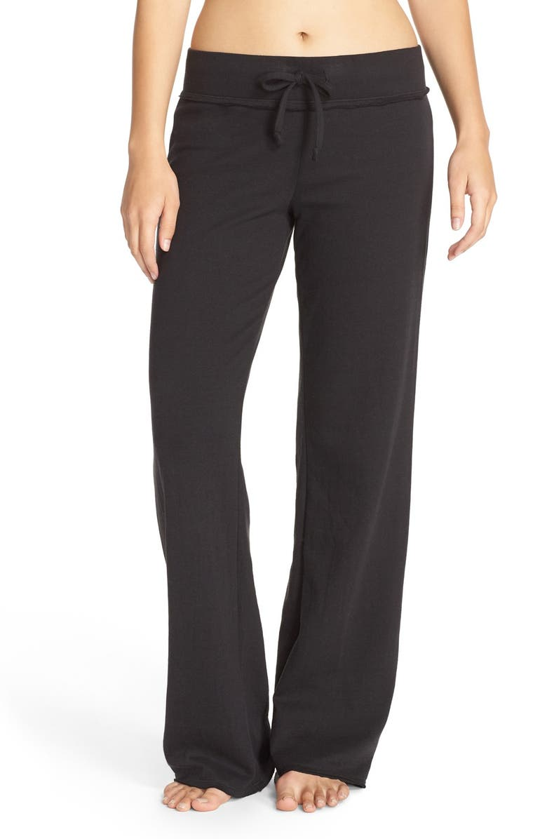 NORDSTROM LINGERIE Lazy Mornings Lounge Pants, Main, color, BLACK