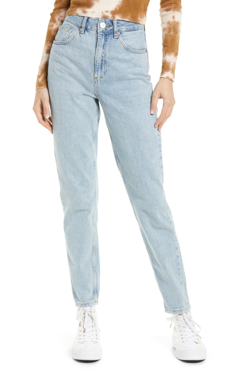 BDG URBAN OUTFITTERS Straight Leg Mom Jeans, Main, color, SUMMER VINTAGE