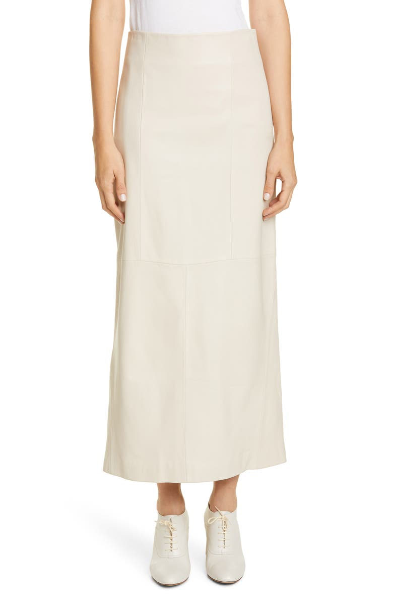 CO Leather Maxi Skirt, Main, color, 100