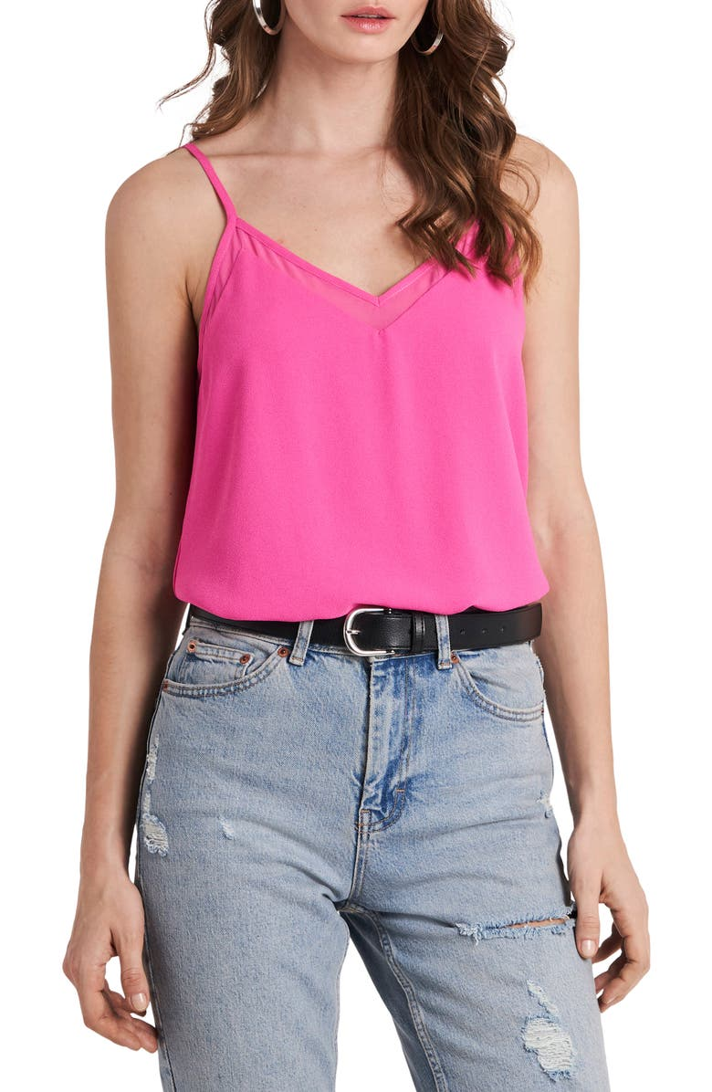 1.STATE Chiffon Inset Tank, Main, color, BRIGHT MULBERRY