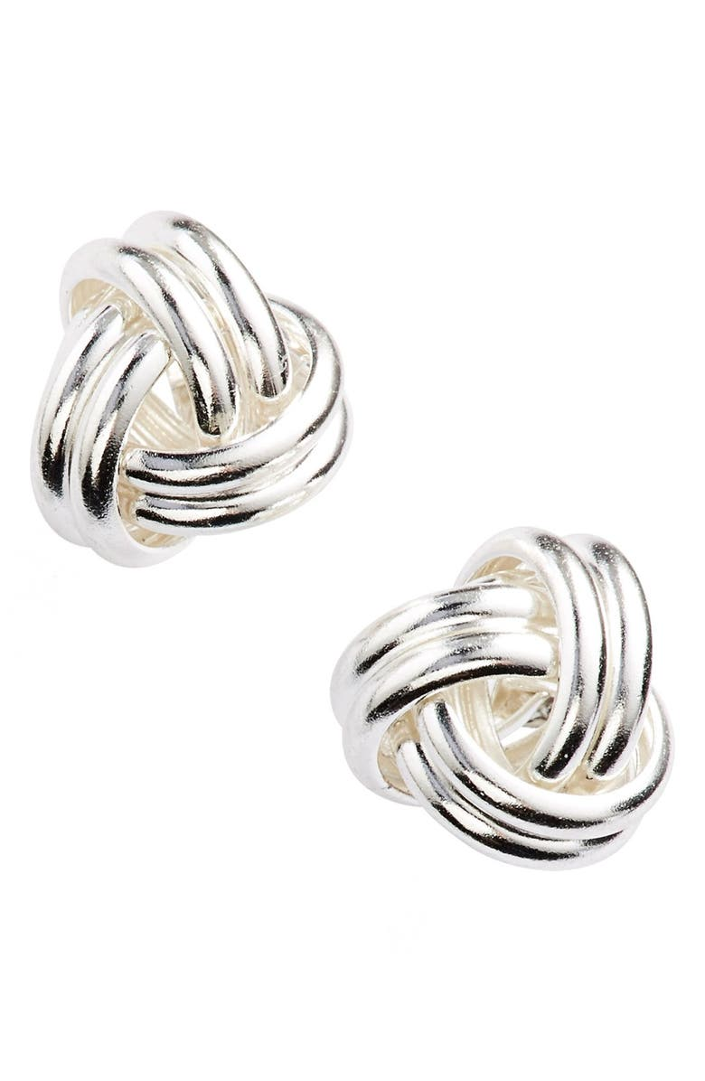 ARGENTO VIVO STERLING SILVER Argento Vivo Knot Stud Earrings, Main, color, 040
