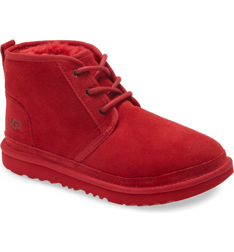 UGG<SUP>®</SUP> Neumel II Water Resistant Chukka Boot, Main, color, SAMBA RED
