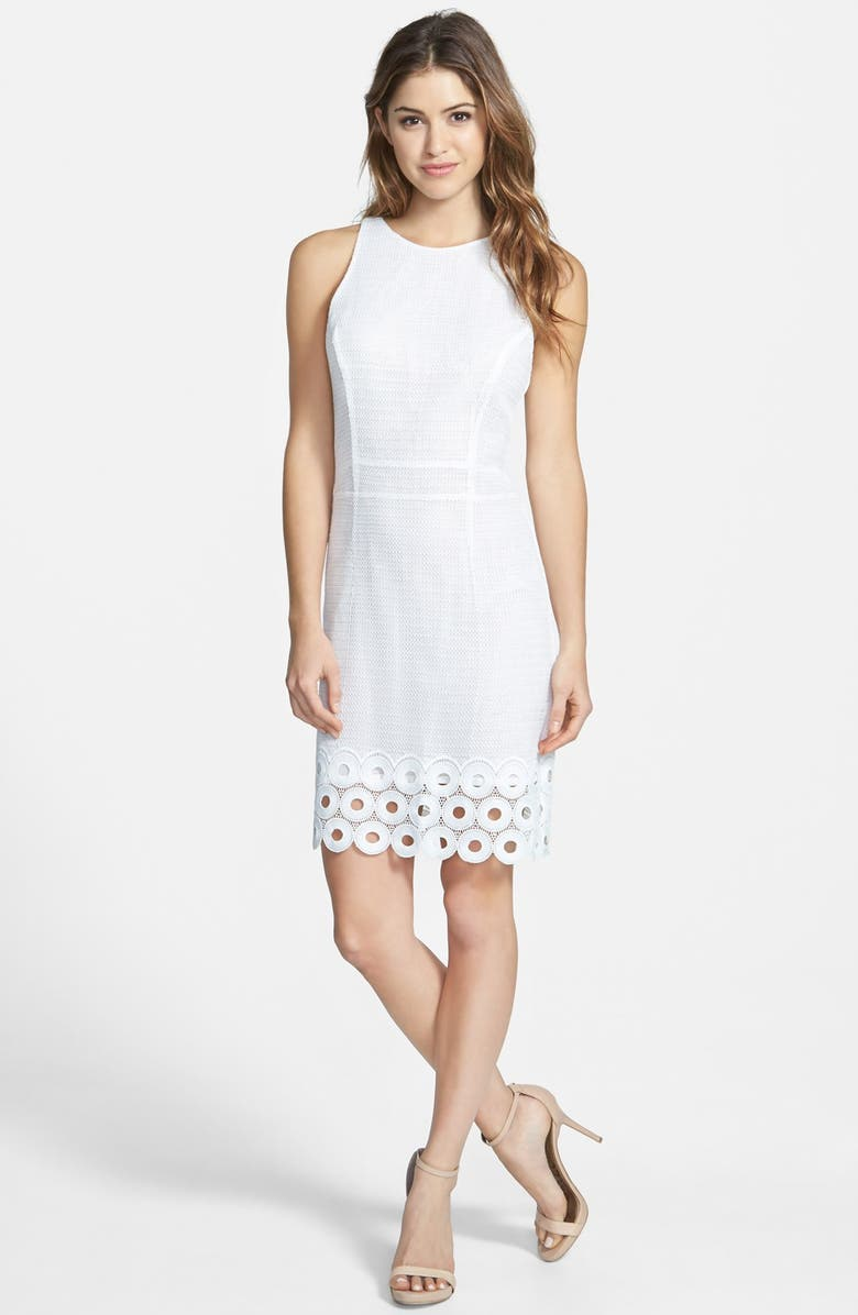 KUT FROM THE KLOTH 'Evelyn' Sheath Dress, Main, color, White