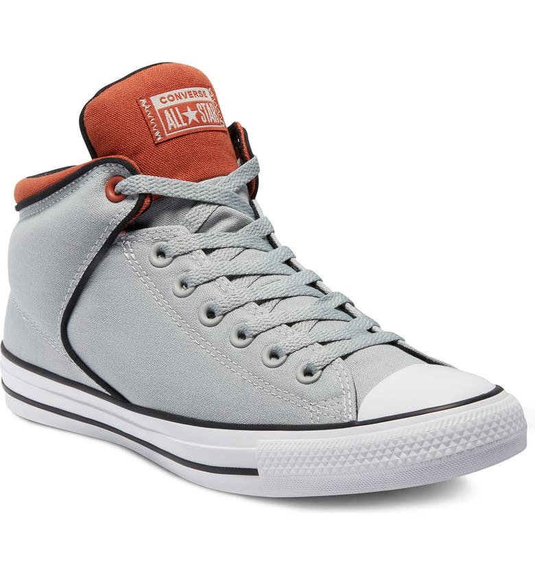 CONVERSE Chuck Taylor All Star High Top Sneaker, Main, color, ASH STONE/RED BARK/WHITE