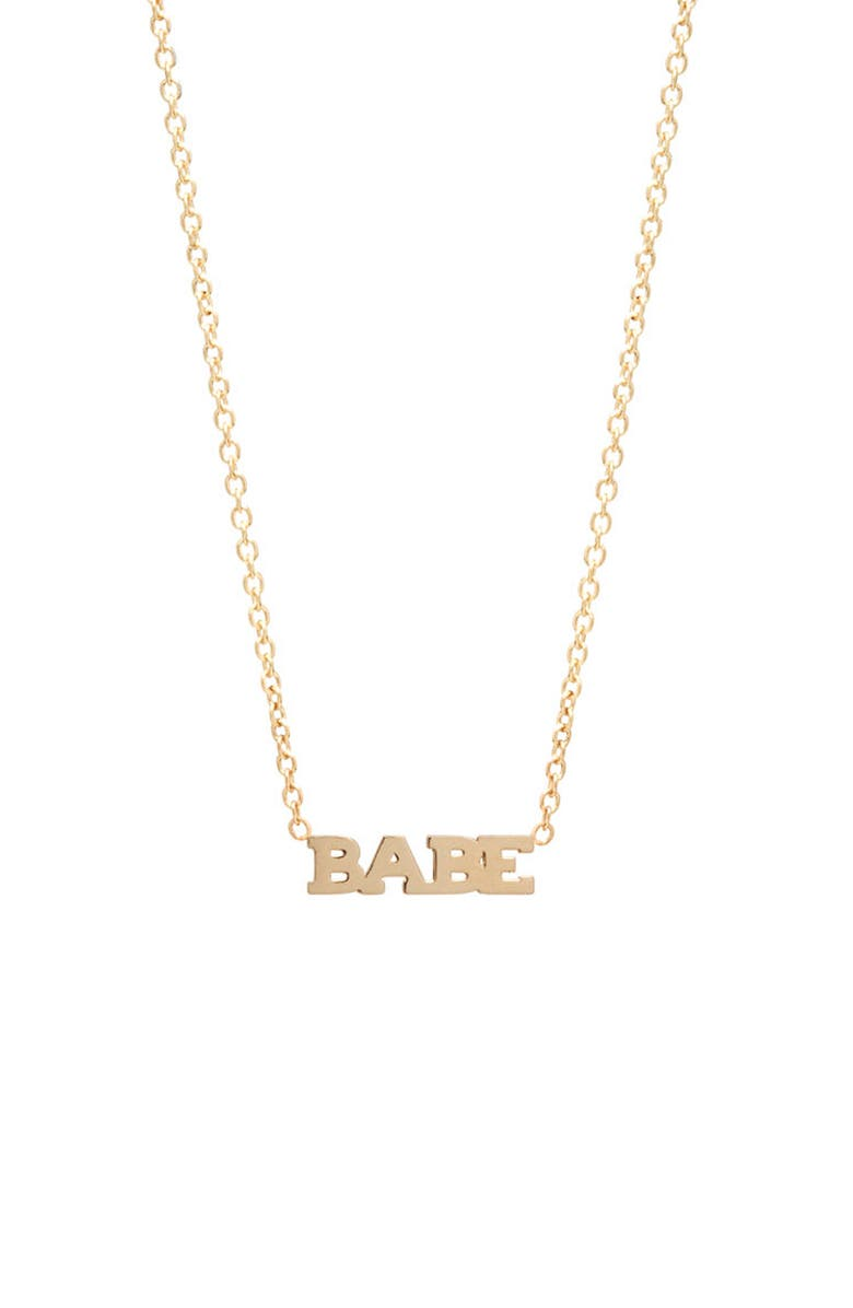 ZOË CHICCO Itty Bitty Typographical Pendant Necklace, Main, color, 710