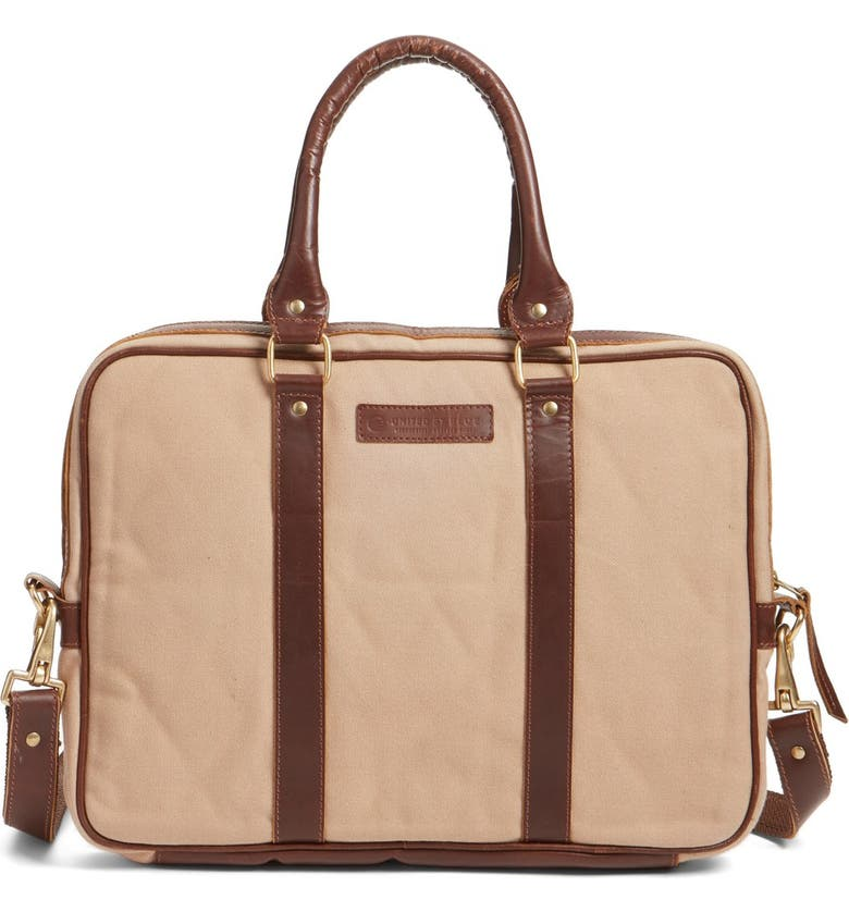 UNITED BY BLUE 'Sequoia' Organic Cotton Briefcase, Main, color, 250