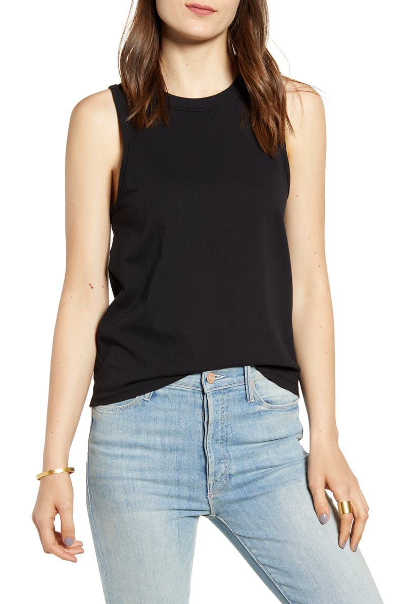 MADEWELL Northside Vintage Muscle Tank, Main, color, 001