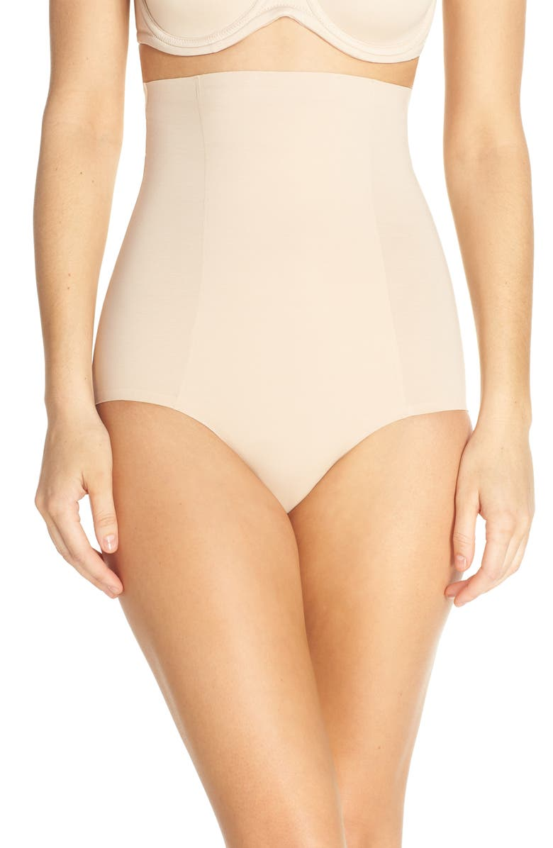 WACOAL Beyond Naked High Waist Shaping Briefs, Main, color, SAND