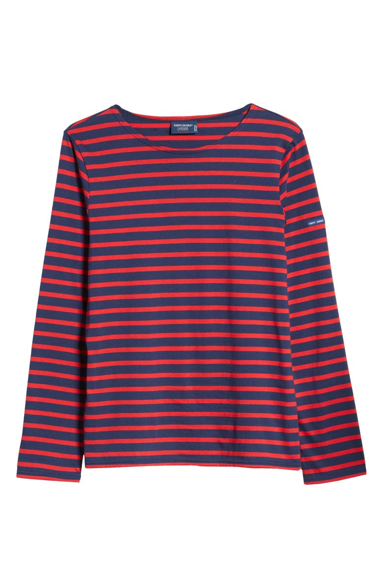SAINT JAMES Minquiers Moderne Striped Sailor Shirt, Main, color, MARINE/TULIPE