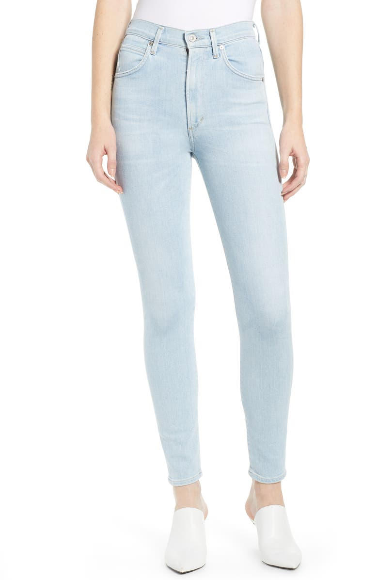 CITIZENS OF HUMANITY Chrissy High Waist Ankle Skinny Jeans, Main, color, ORACLE