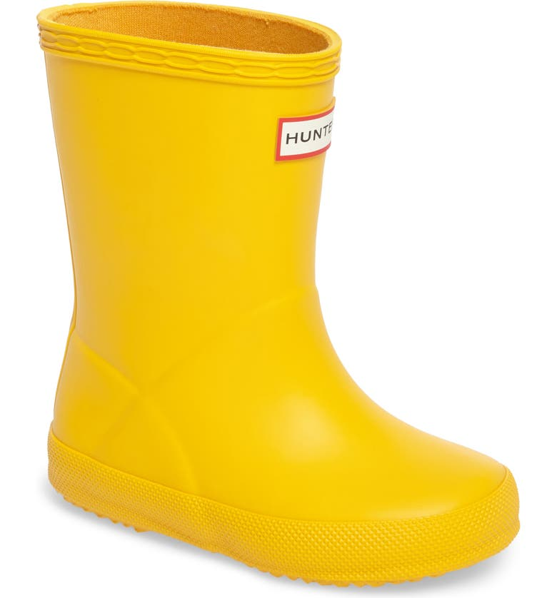 HUNTER First Classic Waterproof Rain Boot, Main, color, YELLOW