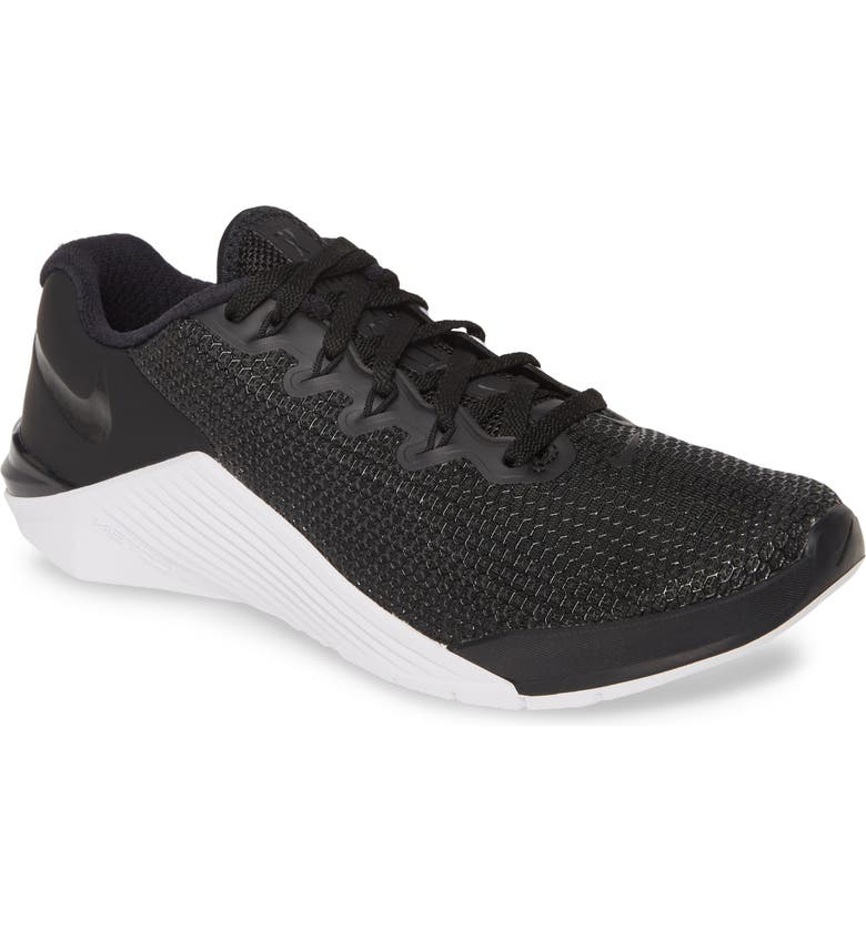 NIKE Metcon 5 Training Shoe, Main, color, BLACK/ BLACK/ WHITE/ WOLF GREY