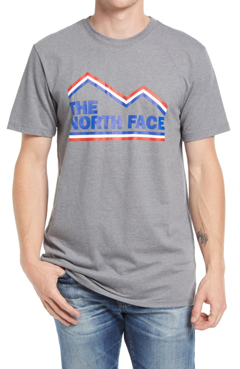 THE NORTH FACE Men's USA Graphic Tee, Main, color, MEDIUM GREY HEATHER