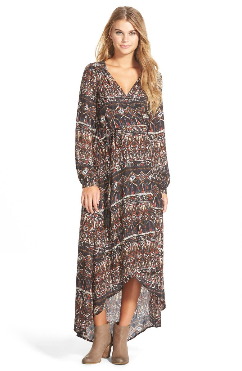 VOLCOM 'Wrapture' Wrap Maxi Dress, Main, color, 242
