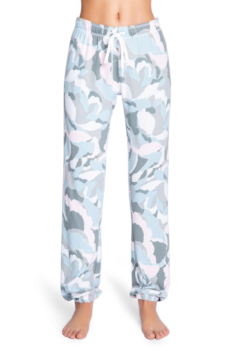 PJ SALVAGE Camo Bloom Pajama Pants, Main, color, MULTI