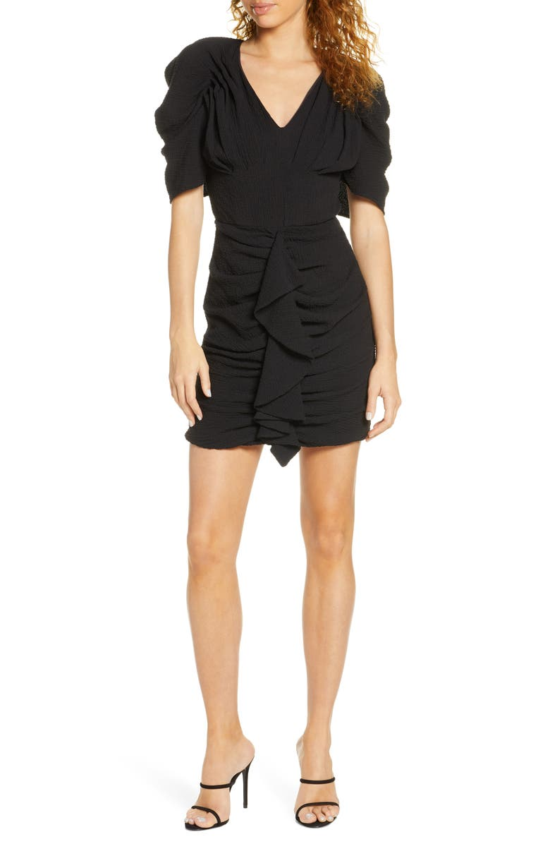 C/MEO COLLECTIVE C/MEO Soaked Ruffle Minidress, Main, color, 001