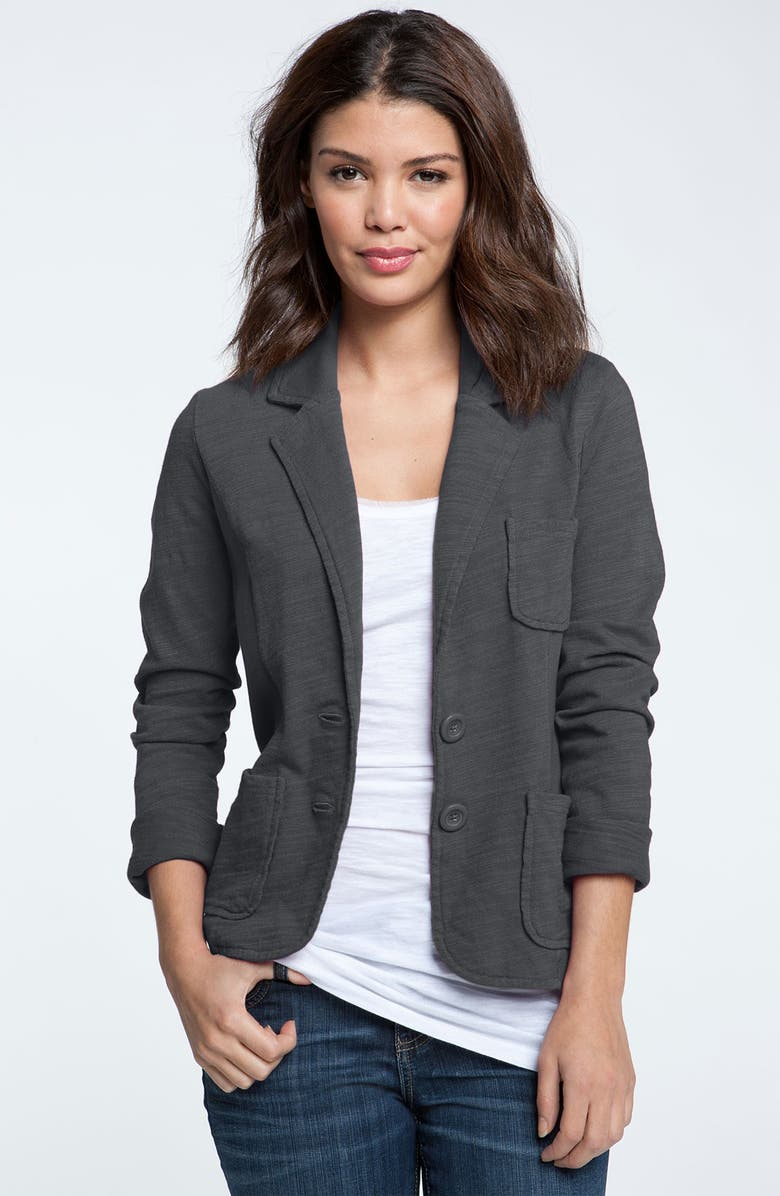 CASLON<SUP>®</SUP> Patch Pocket Knit Blazer, Main, color, 021