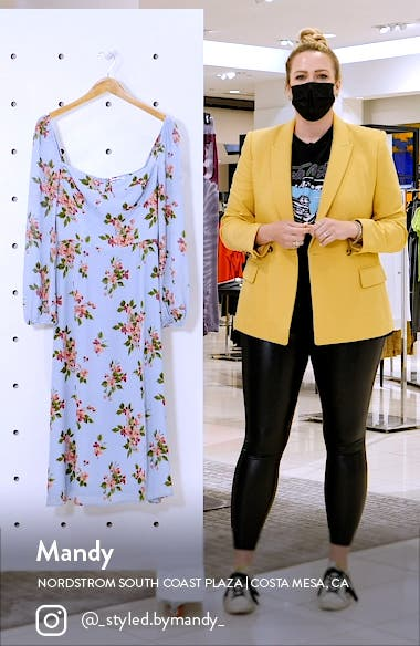 Shelby Floral Long Sleeve Dress, sales video thumbnail