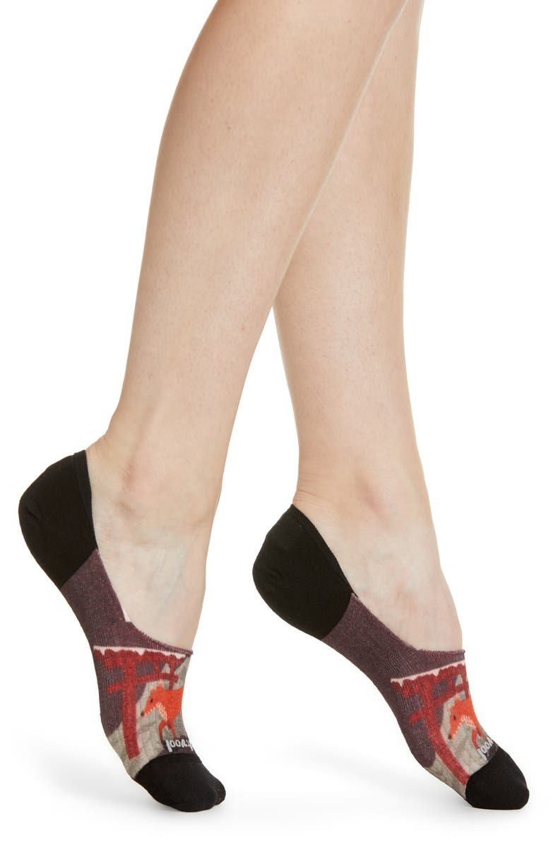 SMARTWOOL Curated Fox No-Show Socks, Main, color, 900