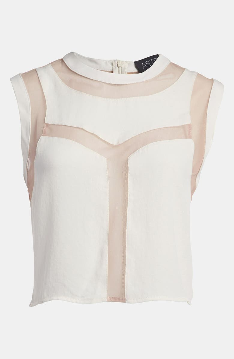 ASTR THE LABEL ASTR 'Illusion Lines' Crop Top, Main, color, IVORY