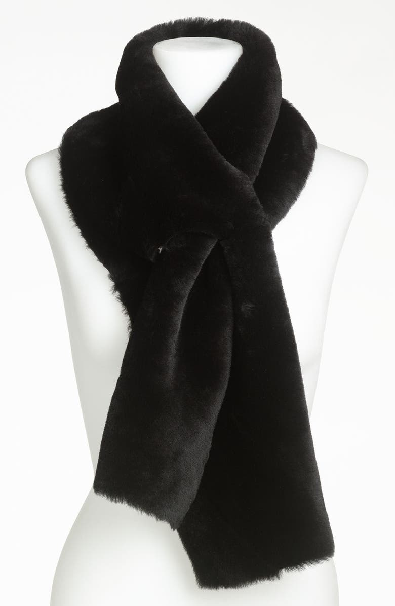 UGG<SUP>®</SUP> Australia Classic Shearling 4-Panel Scarf, Main, color, 002