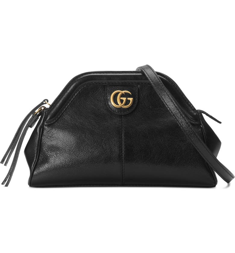 GUCCI Small RE(BELLE) Leather Crossbody Bag, Main, color, 001