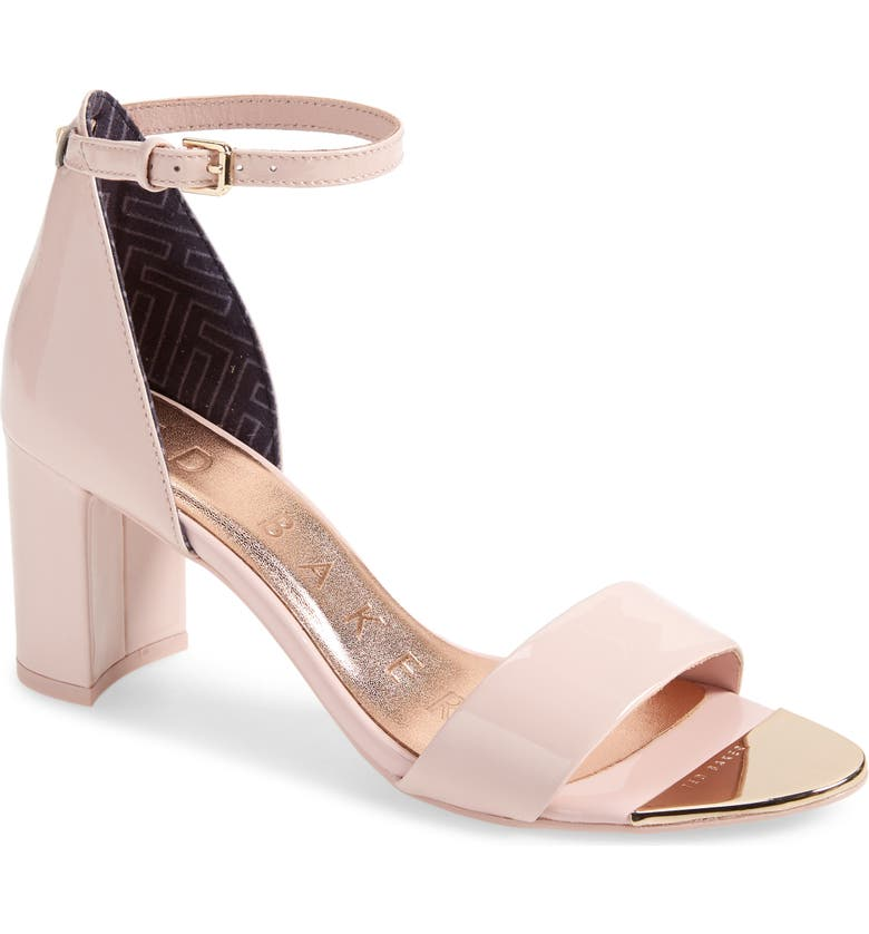 TED BAKER LONDON Sheah Sandal, Main, color, PATENT NUDE/ PINK LEATHER