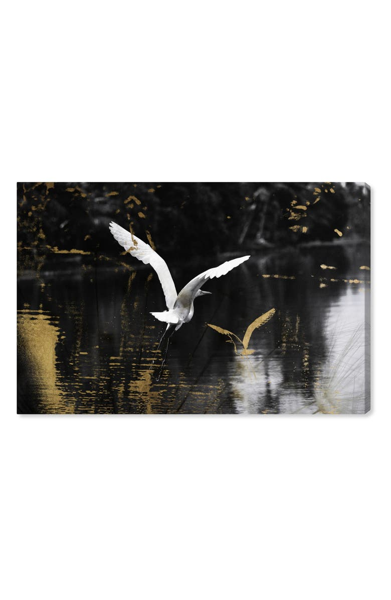 OLIVER GAL Nature in Glam Canvas Wall Art, Main, color, BLACK WHITE GOLD