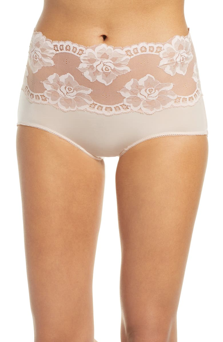 WACOAL Light and Lacy Briefs, Main, color, ROSE DUST