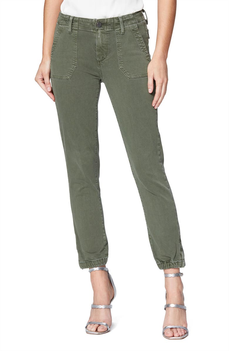 PAIGE Mayslie Joggers, Main, color, VINTAGE IVY GREEN