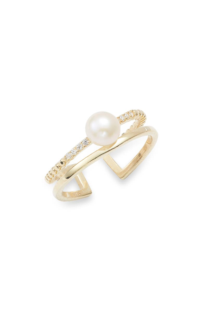 ADINA'S JEWELS Imitation Mini Pearl Ring, Main, color, 710