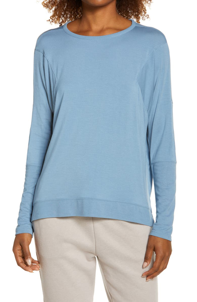 ZELLA Peaceful Relaxed Pullover, Main, color, BLUE VEIL